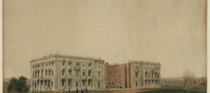 Kapitol po pożarze Waszyngtonu – odrestaurowany rysunek z 1814 roku