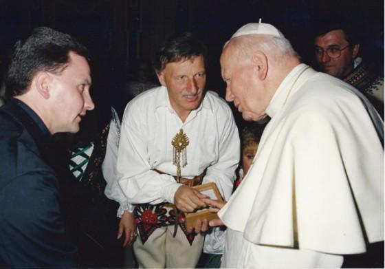 Poświęcenie kamienia węgielnego przez Jana Pawła II, Watykan, 21 maja 1998