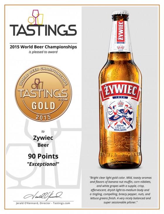 Zywiec 2015 Gold Medal Certificate2
